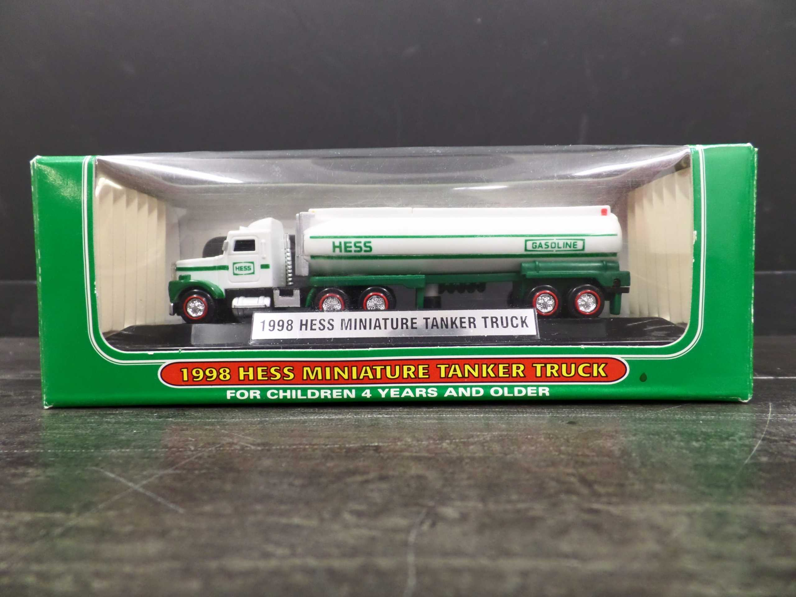 1998 MINI HESS TANKER TRUCK  Donated by: WPBS SUPPORTER  Valued at: $74