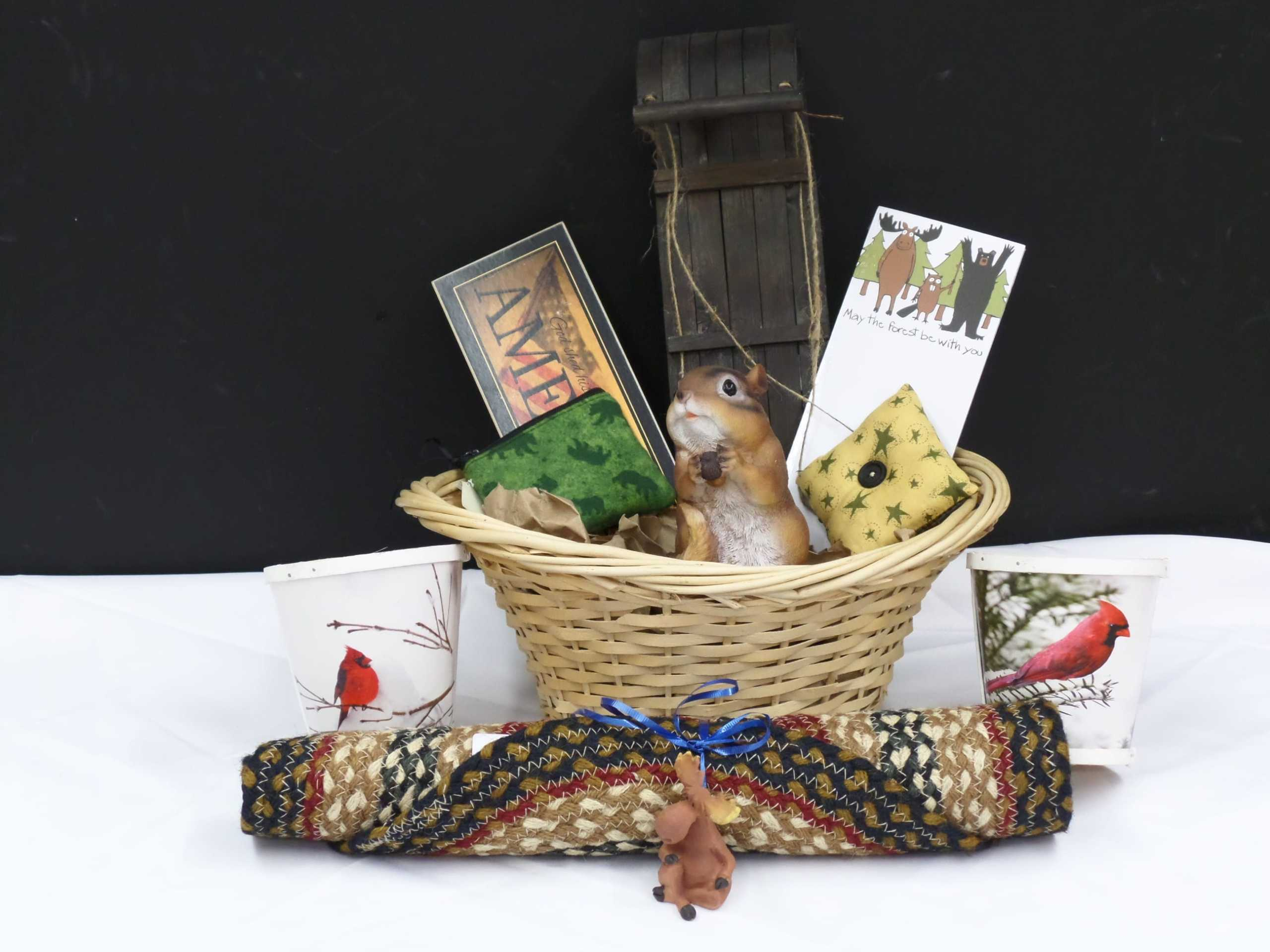 GIFT BASKET  Donated by: NYS WOODSMEN'S FIELD DAYS  Valued at: $100