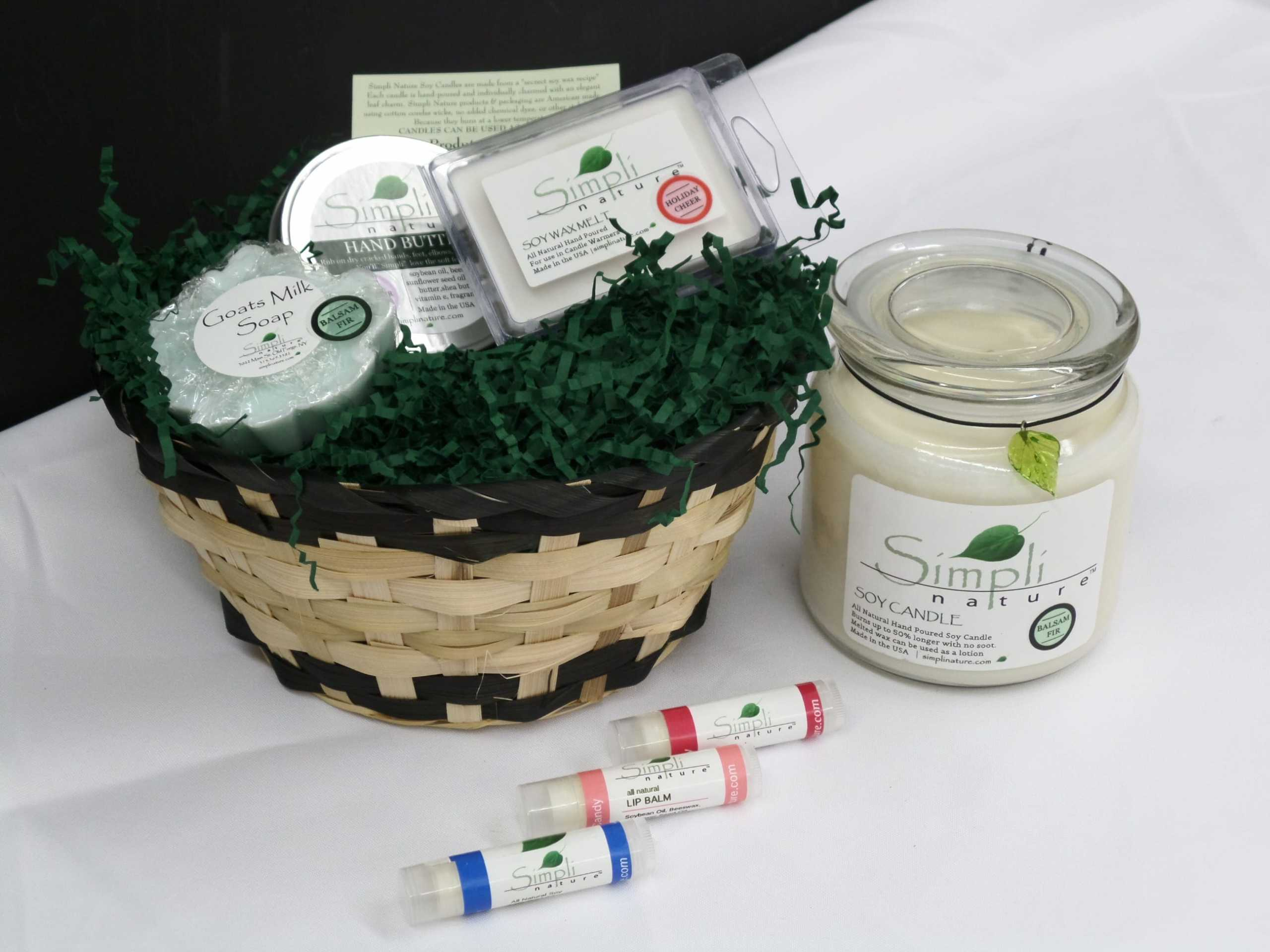 GIFT BASKET <br/> Donated by: SIMPLI NATURE <br/> Valued at: $50