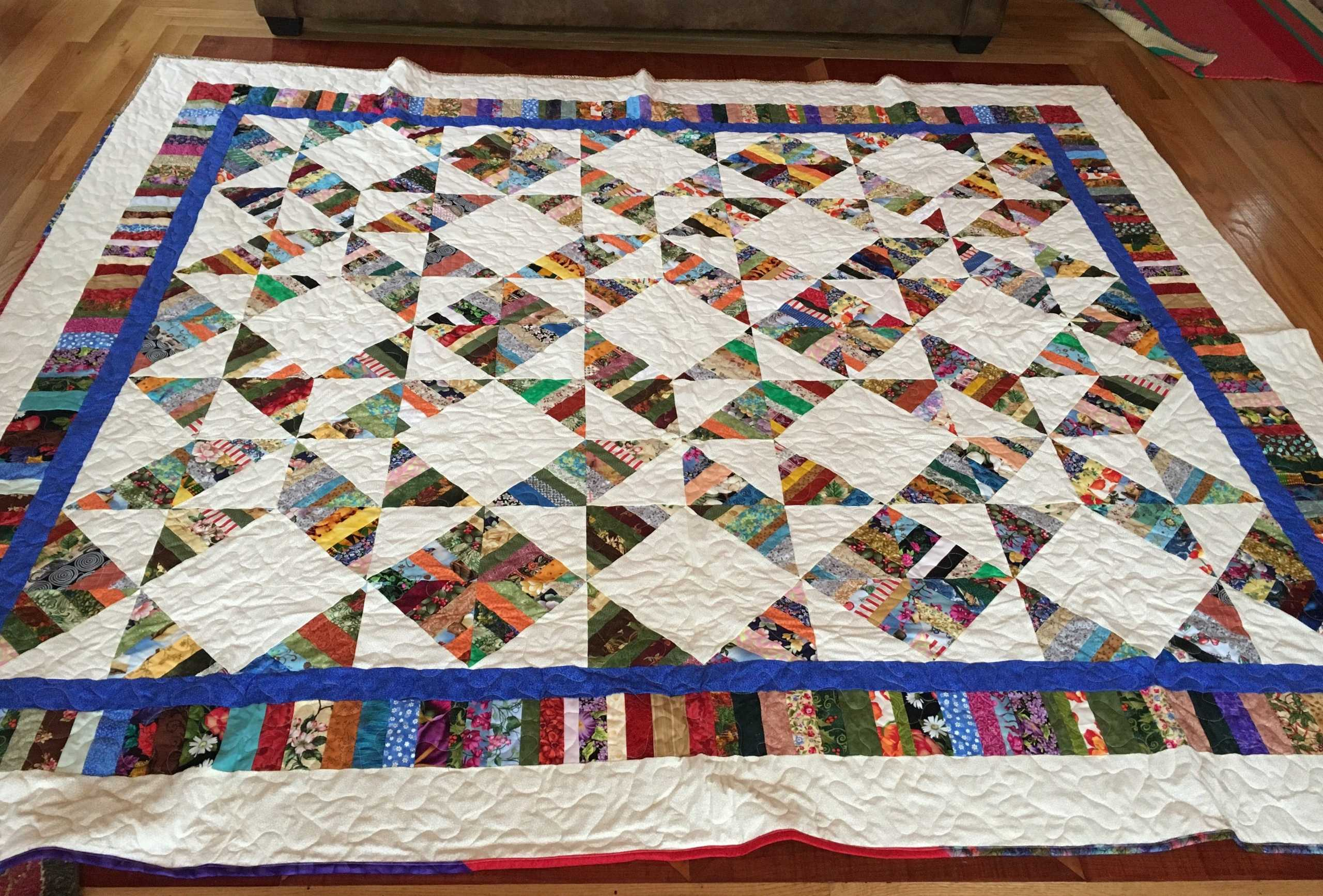 QUEEN SIZE QUILT  Donated by: SUNSHINE QUILTERS OF LAFARGEVILLE  Valued at: $500