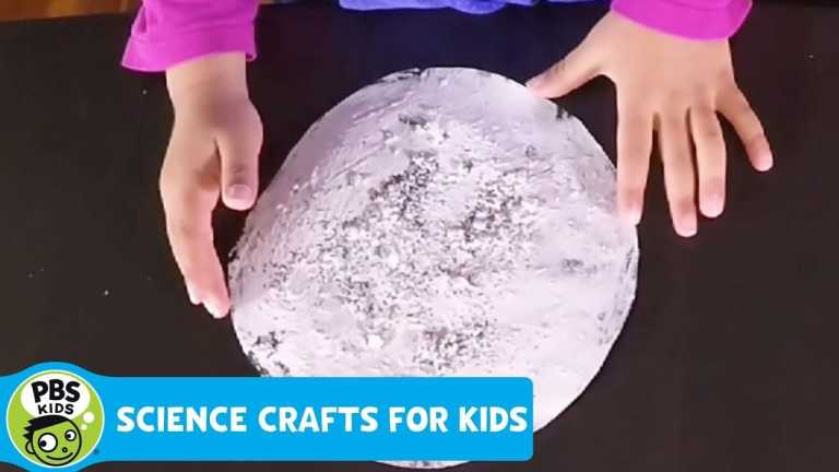 SCIENCE CRAFTS for KIDS | Moon Rock Painting | PBS KIDS for PARENTS