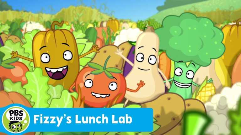 FIZZY'S LUNCH LAB   Freezer Burn: Veggie Rock (Song)   PBS KIDS