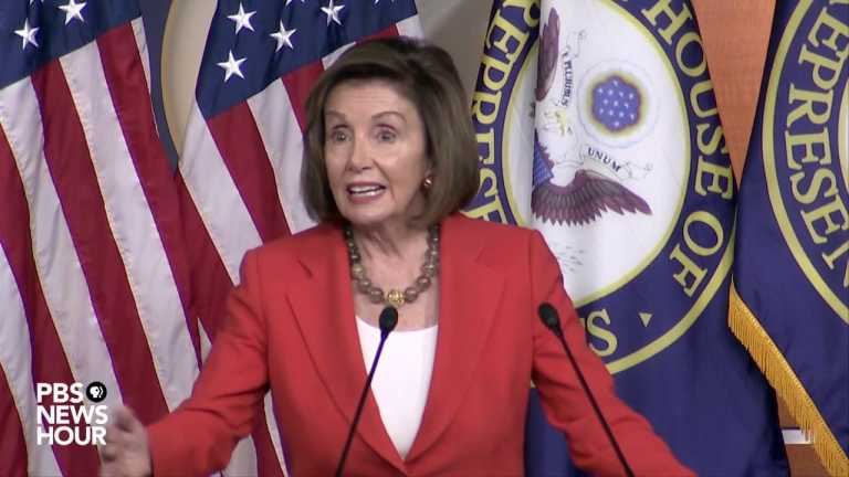 WATCH: Pelosi holds news conference amid impeachment inquiry vote