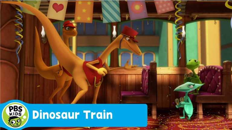 DINOSAUR TRAIN | A Birthday Surprise for Mr. Conductor | PBS KIDS