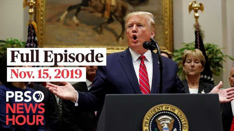 PBS NewsHour full episode November 15, 2019