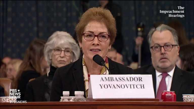 WATCH: Amb. Yovanovitch says Trump's Twitter attacks are 'very intimidating'