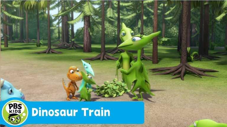 DINOSAUR TRAIN | Searching for Gingko Leaves | PBS KIDS