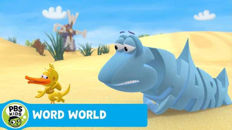WORD WORLD | Duck Tells Shark a Joke | PBS KIDS