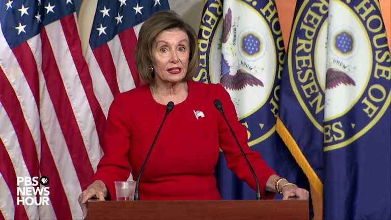 WATCH LIVE: Pelosi holds news conference after public impeachment hearings begin