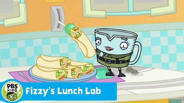 FIZZY'S LUNCH LAB | Food Camp: Turkey Breast Rainbow Wrap | PBS KIDS