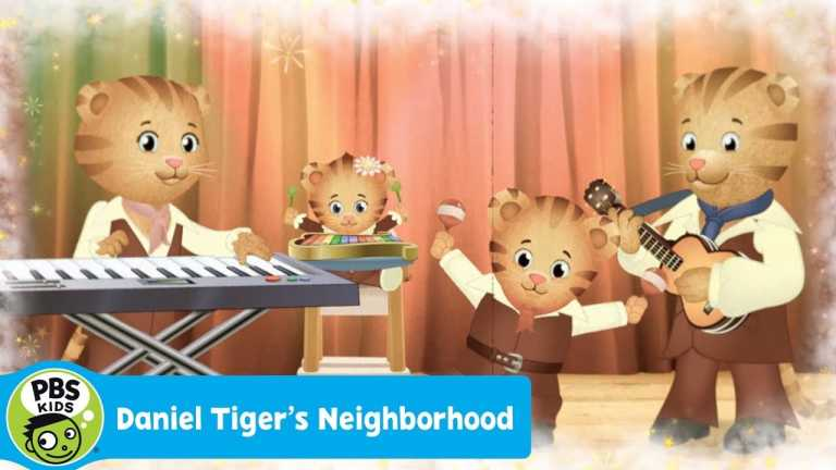 DANIEL TIGER'S NEIGHBORHOOD | We're the Tiger Family Band | PBS KIDS