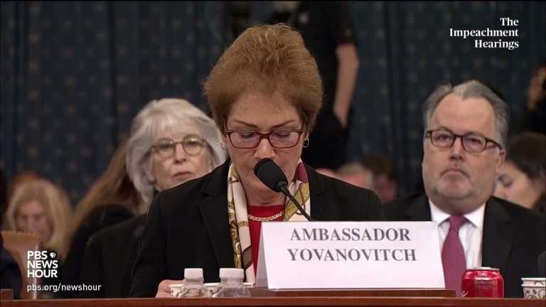 WATCH: Marie Yovanovitch says U.S.' Ukraine policy 'has been thrown into disarray'