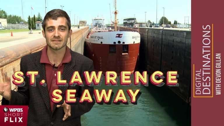 St. Lawrence Seaway and Eisenhower Locks, Massena, New York   WPBS Short Flix