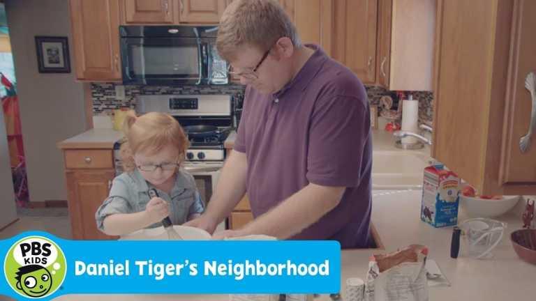 DANIEL TIGER'S NEIGHBORHOOD | Makenna and Her Dad Make Pancakes for Breakfast | PBS KIDS
