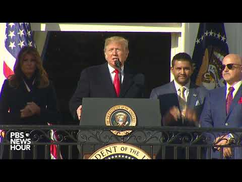 WATCH: Trump hosts World Series champions, the Washington Nationals, at the White House