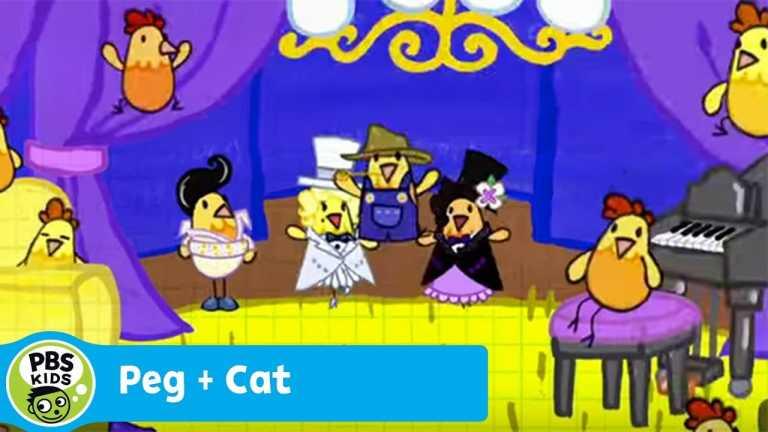 PEG + CAT | Rocking Around the Chicken Coop (Song) | PBS KIDS