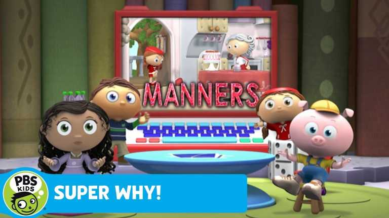 SUPER WHY! | Red Uses Her Manners | PBS KIDS