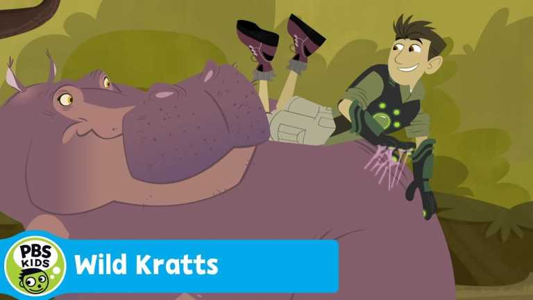 WILD KRATTS | Water Walking with a Hippo | PBS KIDS