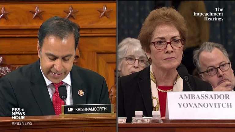 WATCH: Rep. Raja Krishnamoorthi's full questioning of Amb. Yovanovitch | Trump impeachment hearings