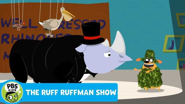 THE RUFF RUFFMAN SHOW | Music Video: A Well-Dressed Rhinoceros | PBS KIDS