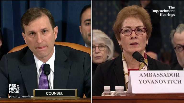 WATCH: Amb. Yovanovitch testifies she was not given a reason for her firing