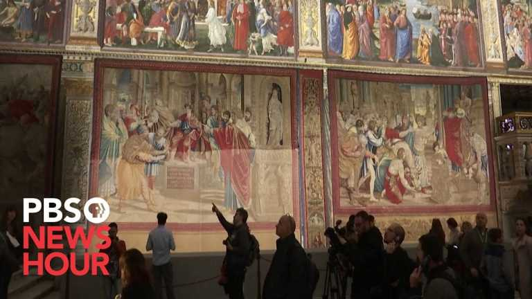 After 500 years, Raphael's tapestries return to Sistine Chapel