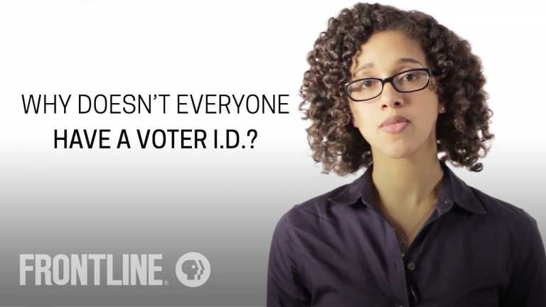 Why Doesn't Everyone Have a Voter ID?   FRONTLINE Answers Your Questions