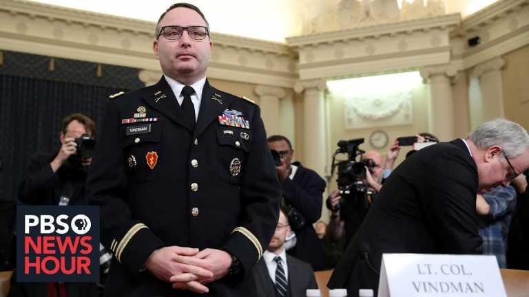 News Wrap: Army says Vindman won't be investigated over impeachment testimony