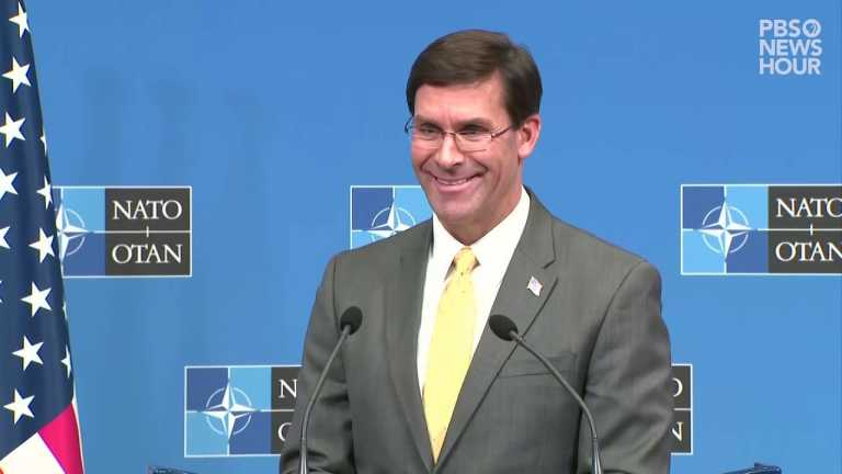 WATCH: Defense Secretary Esper discusses potential 7-day deal with Taliban