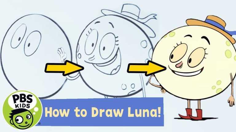 Let's Go Luna! | How to DRAW Luna! | PBS KIDS