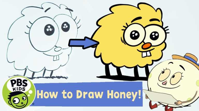 Let's Go Luna | How to Draw Honey! | PBS KIDS