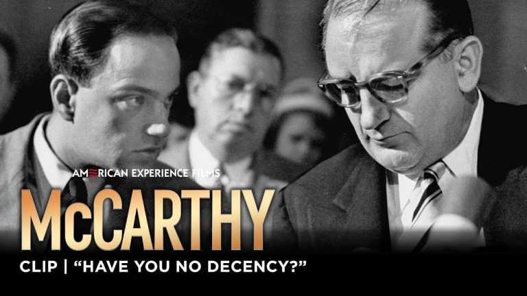 """Have You No Decency?"" | McCarthy | American Experience | PBS"