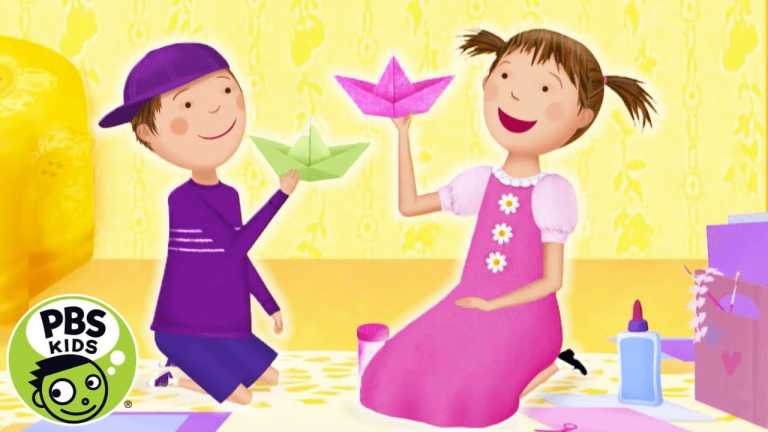 Pinkalicious and Peterrific | ✨Make SPARKLE Paper Boats with Pinkalicious! | PBS KIDS