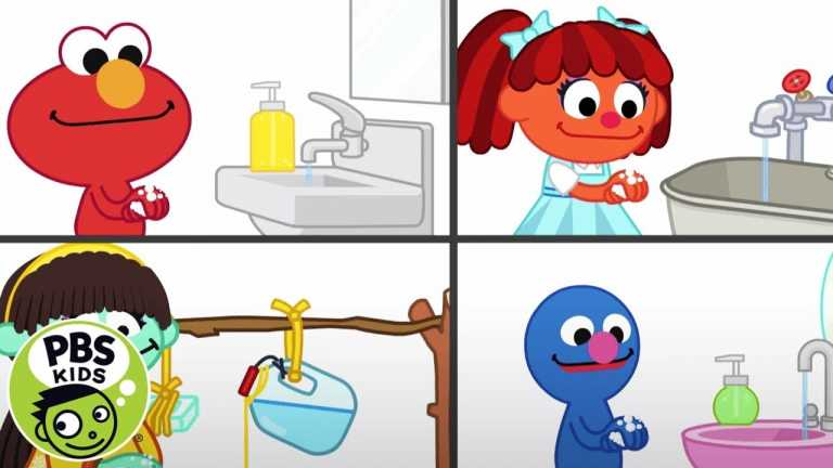 Washy Wash Song With Elmo and Friends! | Sesame Street | PBS KIDS