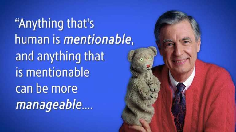 """Mister Rogers Says """"Anything That is Human is 'Mentionable'"""""""