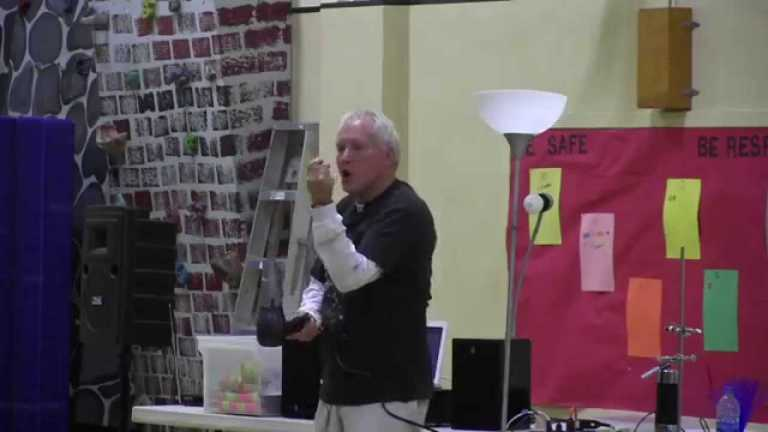 Retired teacher inspires students by 'launching eggs with lighter fluid'