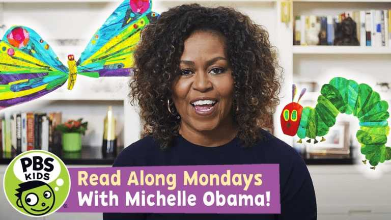 READ ALONG with Michelle Obama! | The Very Hungry Catepillar | PBS KIDS