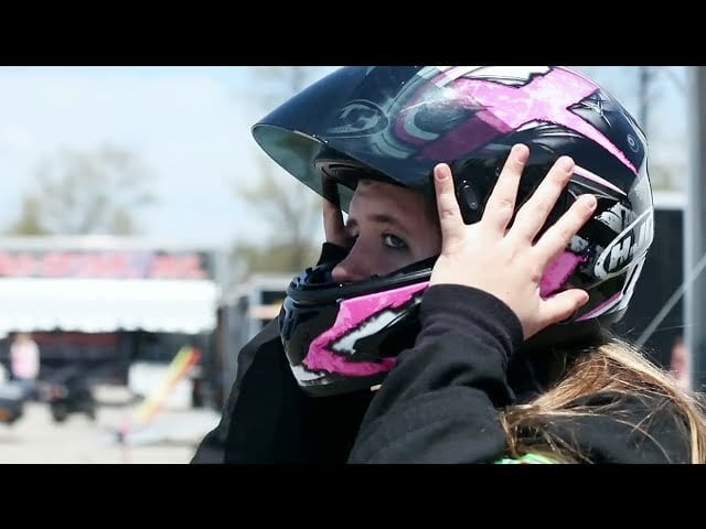Teen female drag racer finds inspiration behind the wheel