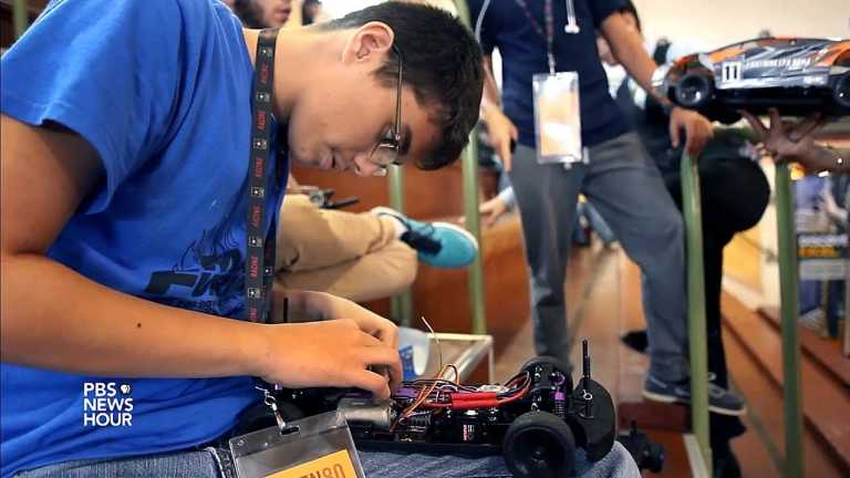 Students build self driving cars at Ten80 STEM Expo