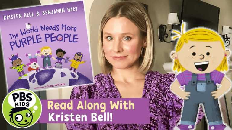 READ ALONG with KRISTEN BELL | The World Needs More Purple People | PBS KIDS