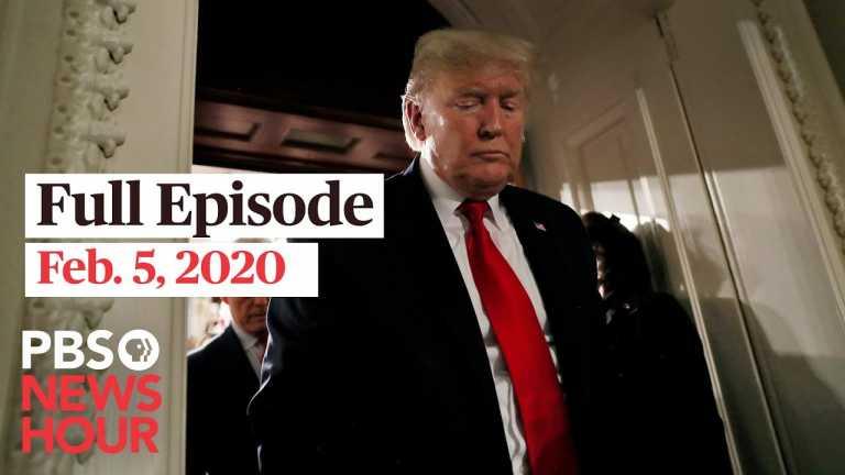 PBS NewsHour full episode, Feb 5, 2020