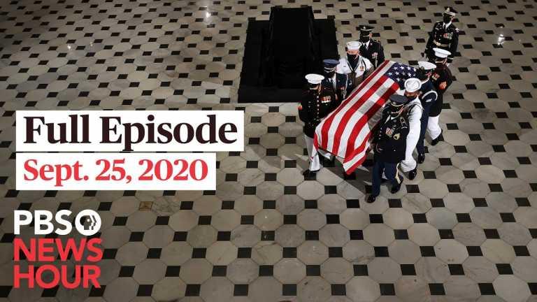 PBS NewsHour full episode, Sept. 25, 2020