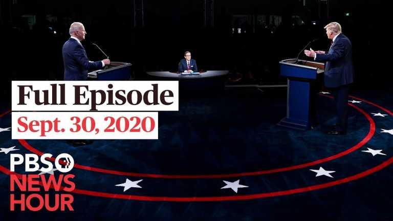 PBS NewsHour full episode, Sept. 30, 2020