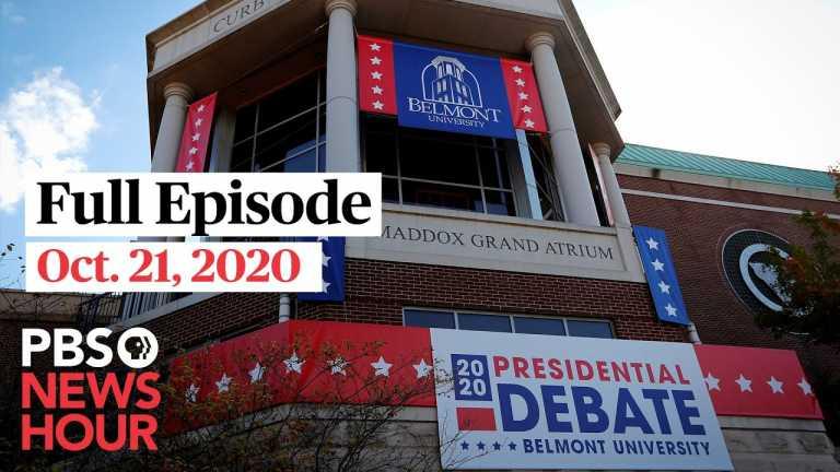PBS NewsHour full episode, Oct. 21, 2020