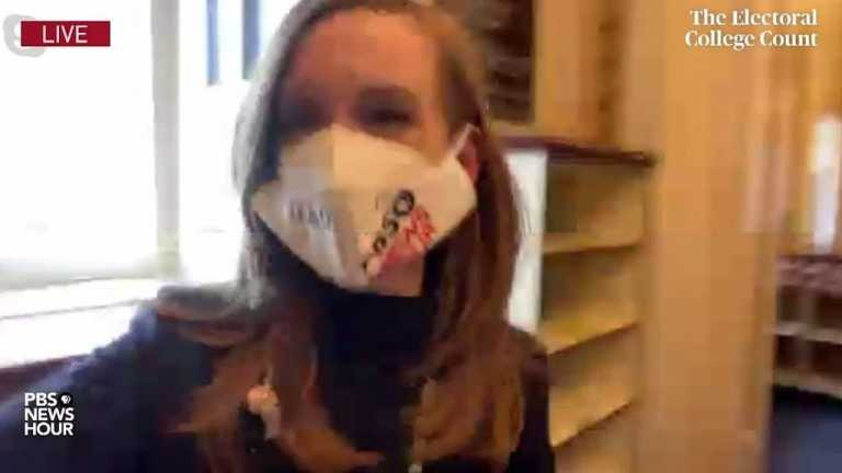 WATCH: Lisa Desjardins reports from inside U.S. Capitol where pro-Trump mob interrupts vote count