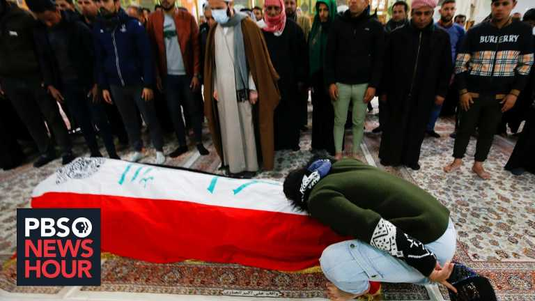 News Wrap: Two suicide bombings kill at least 32 people in Iraq