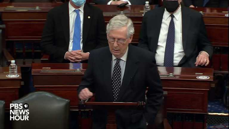 WATCH: McConnell says challenging Biden's victory will 'damage republic forever'