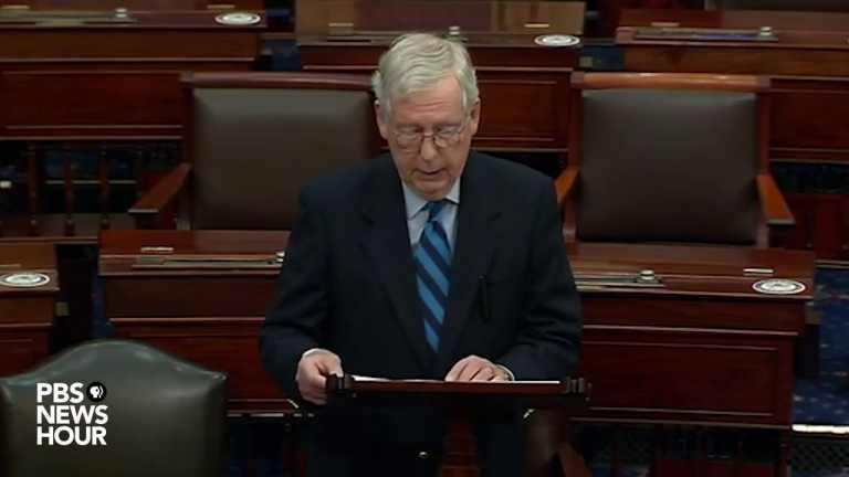 WATCH: McConnell says violent Capitol mob was 'provoked' by Trump and others in power