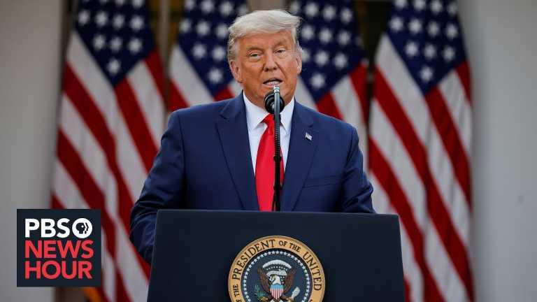 Trump makes 1st public remarks since Biden's win