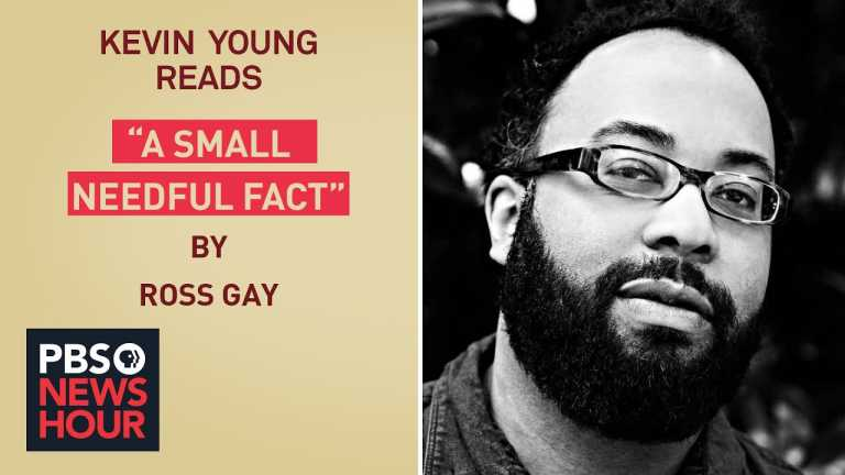 Kevin Young reads Ross Gay's poem 'A Small Needful Fact'